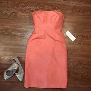 J. Crew formal strapless dress size 0 color coral